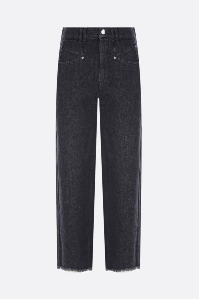 ISABEL MARANT: jeans cropped Dilali Colore Nero_1