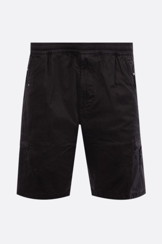 STONE ISLAND: cotton blend shorts Color Black_1