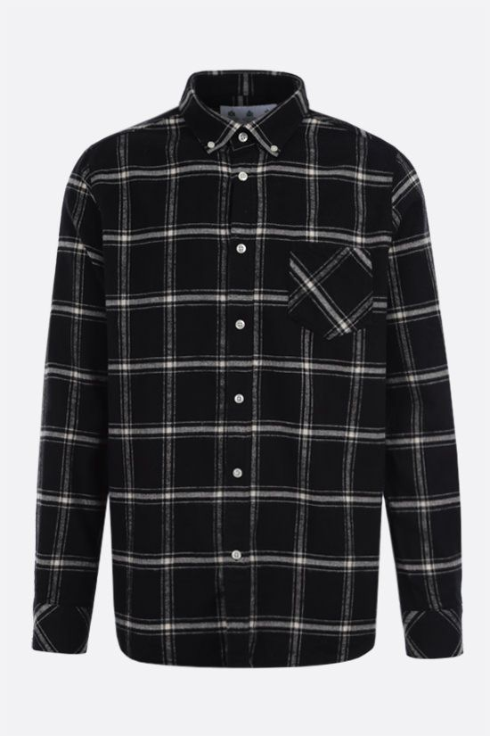 BARBOUR MADE FOR JAPAN: Raven check flannel shirt Color Black_1