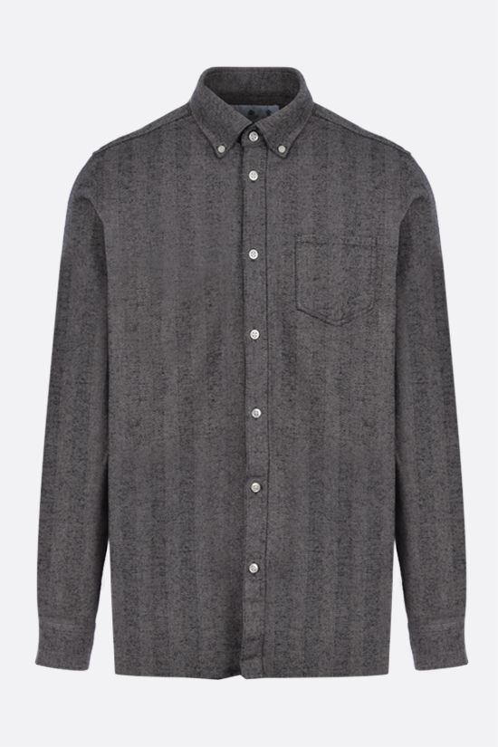 BARBOUR MADE FOR JAPAN: camicia Junction in flanella Colore Grigio_1