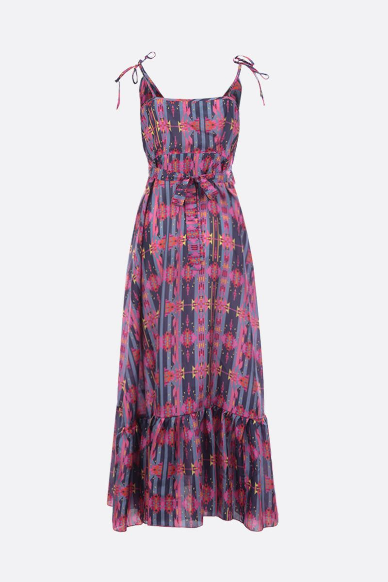 JESSIE WESTERN: geometric print silk flounced dress Color Multicolor_2