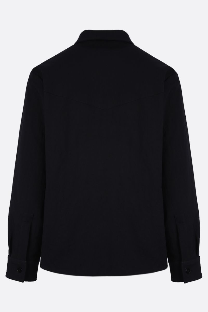 JIL SANDER: twill padded full-zip padded jacket Color Blue_2