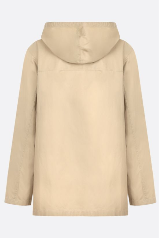 JIL SANDER: cotton gabardine full-zip jacket Color Neutral_2