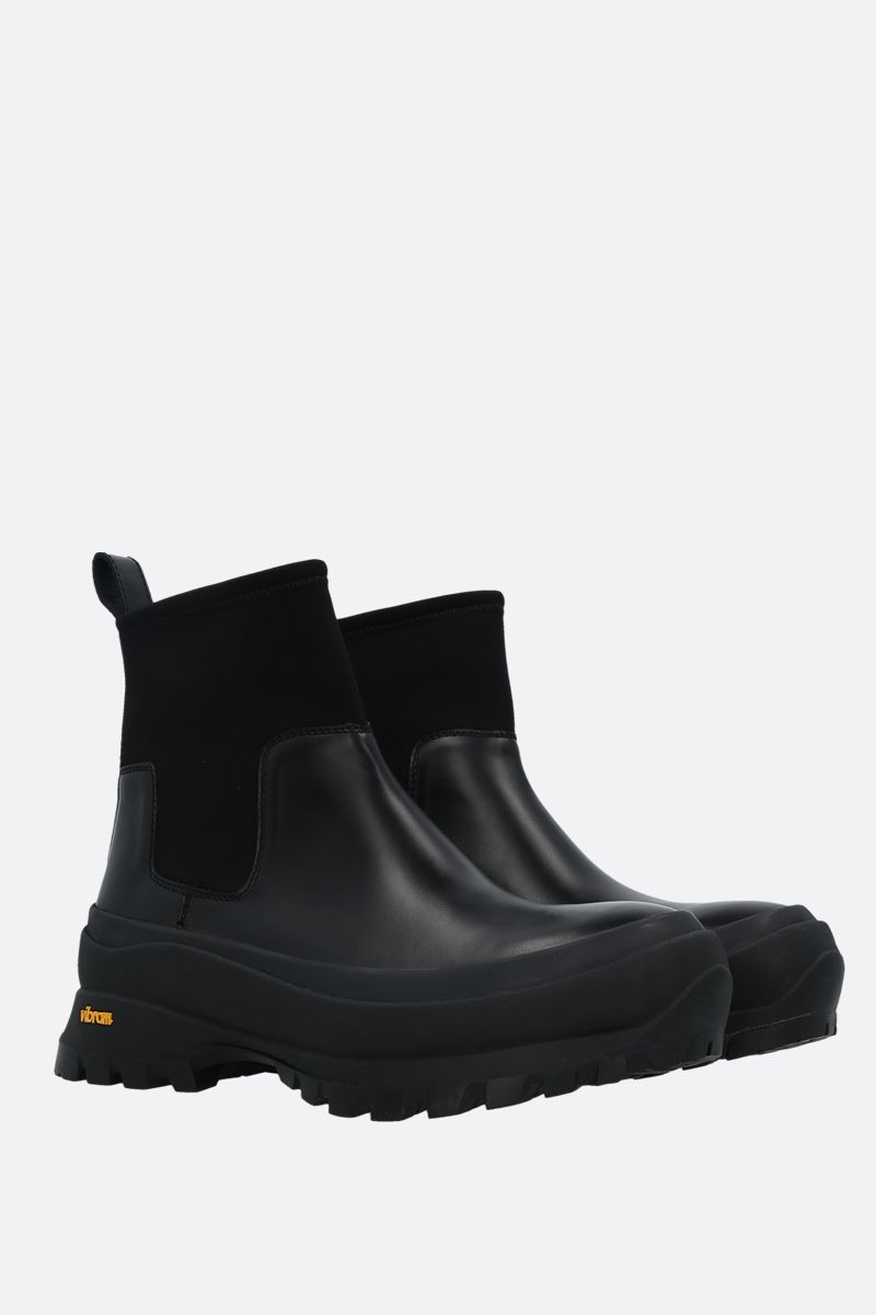 JIL SANDER: shiny leather rainy boots Color Black_2