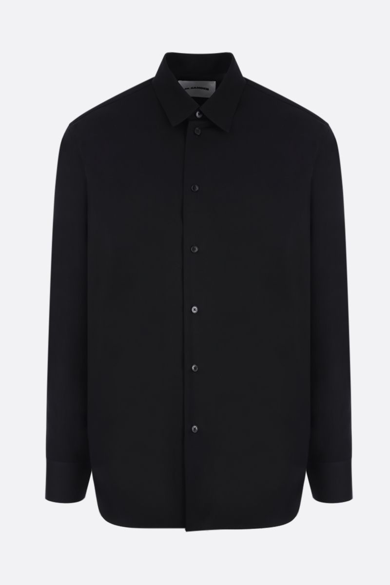 JIL SANDER: lightweight wool shirt Color Black_1