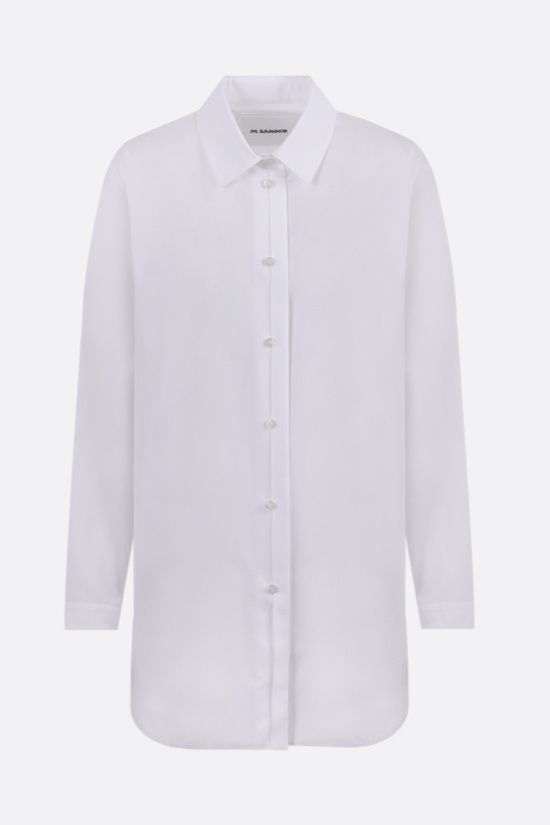 JIL SANDER: oversize poplin shirt Color White_1