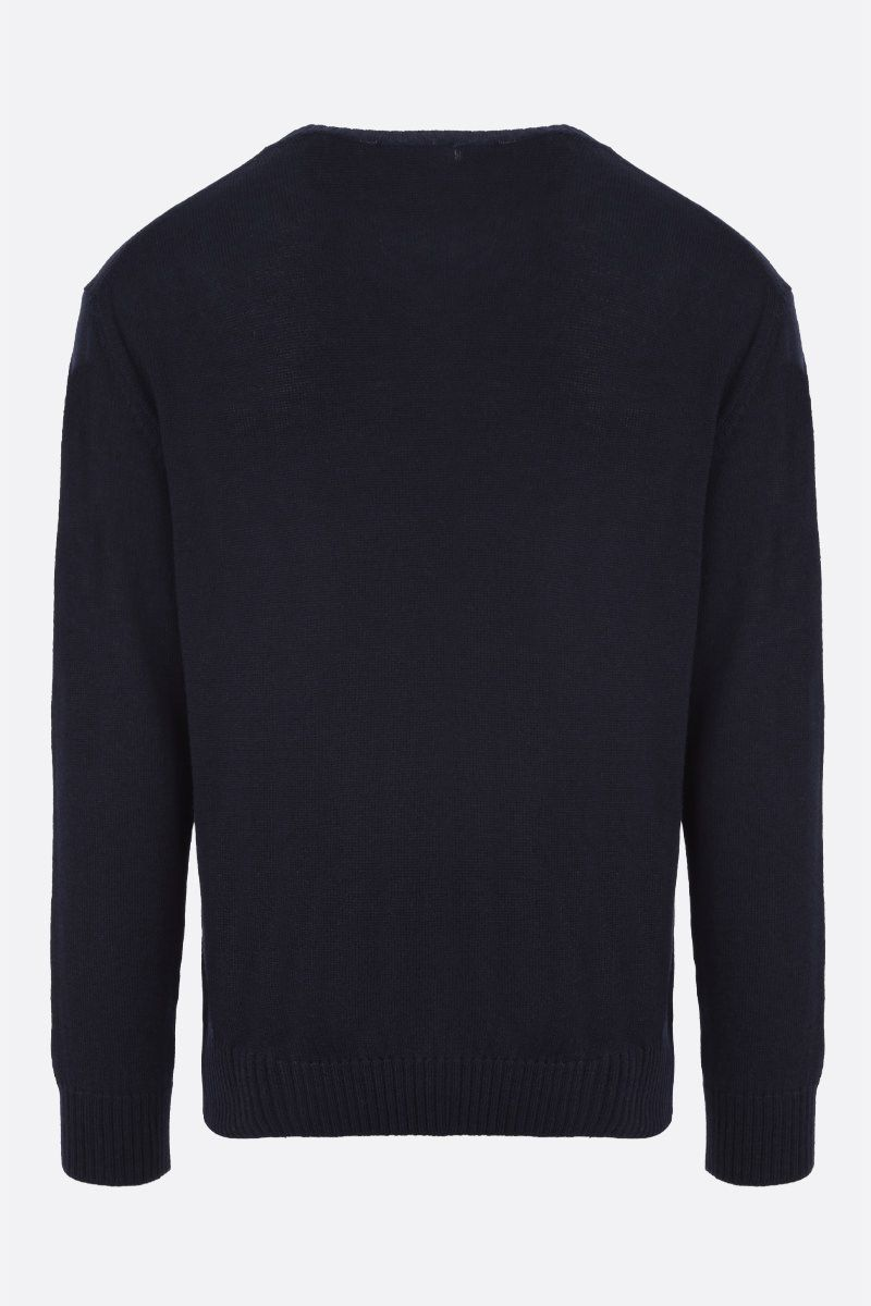 JIL SANDER: wool pullover Color Blue_2