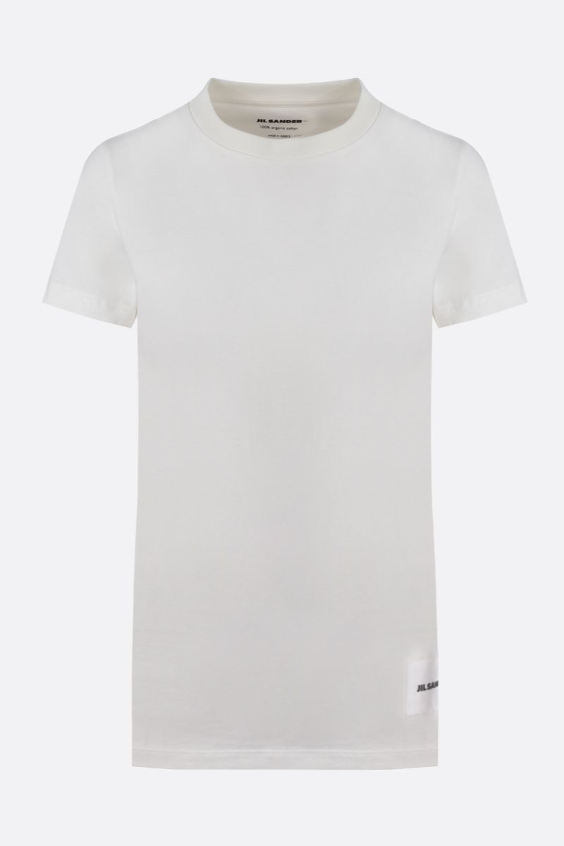 JIL SANDER: pack 3 cotton t-shirt Color White_1