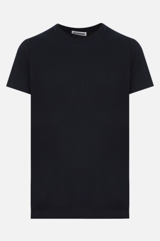 JIL SANDER: cotton jersey t-shirt Color Blue_1