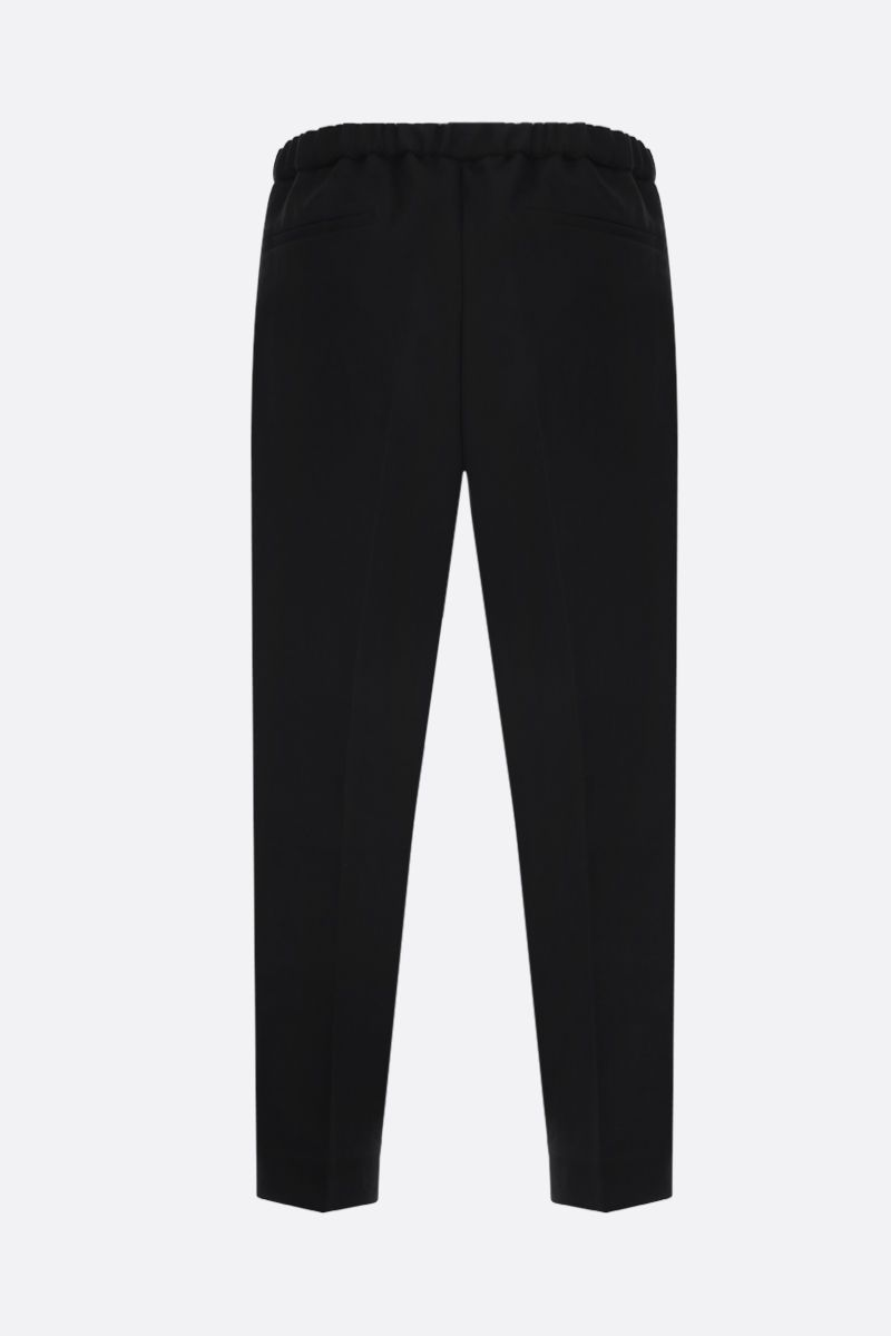 JIL SANDER: technical canvas crop pants Color Black_2