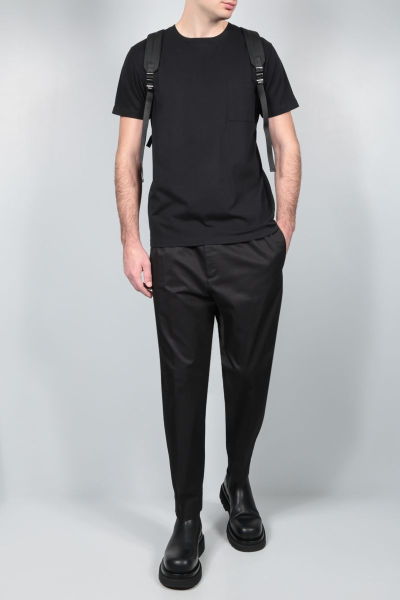 JIL SANDER: cotton gabardine cropped pants Color Black_2