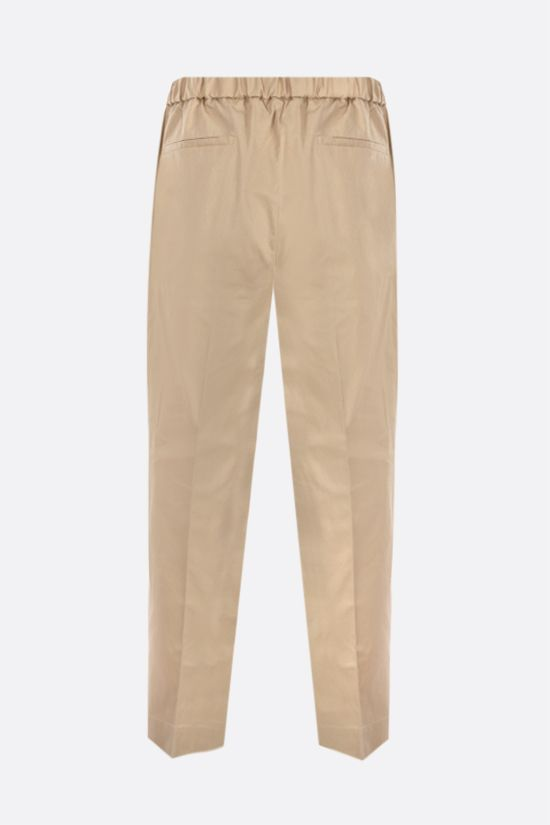 JIL SANDER: cotton gabardine cropped pants Color Neutral_2