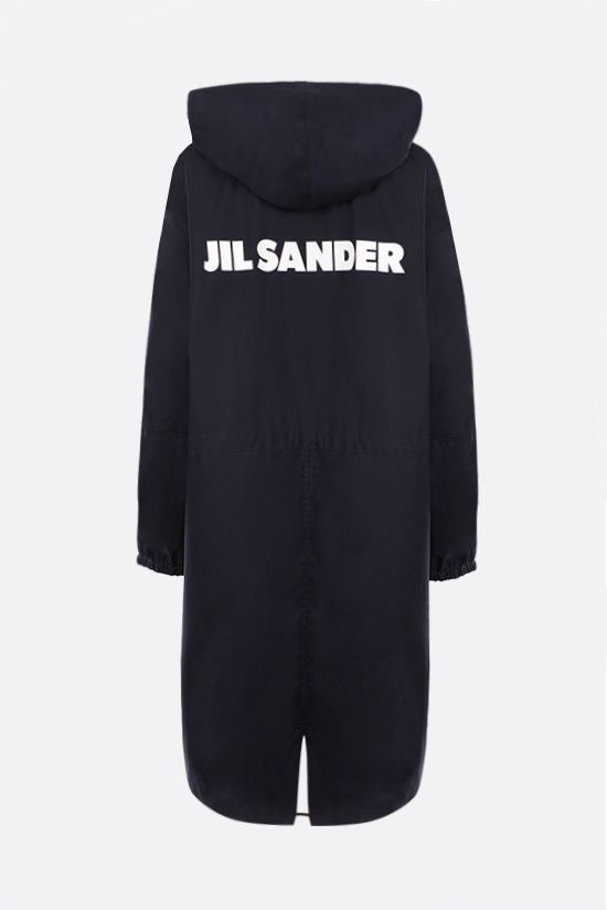 JIL SANDER: Essential Outdoor oversize cotton parka Color Blue_2