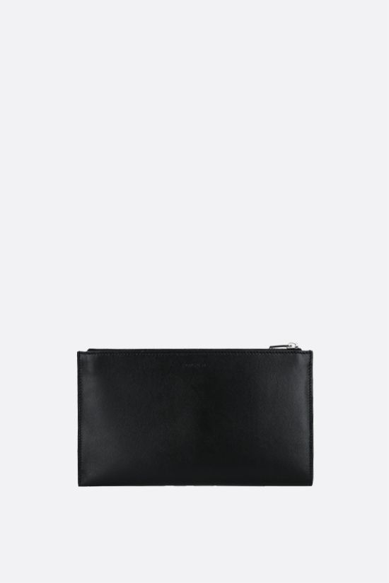 JIL SANDER: smooth leather document holder Color Black_1