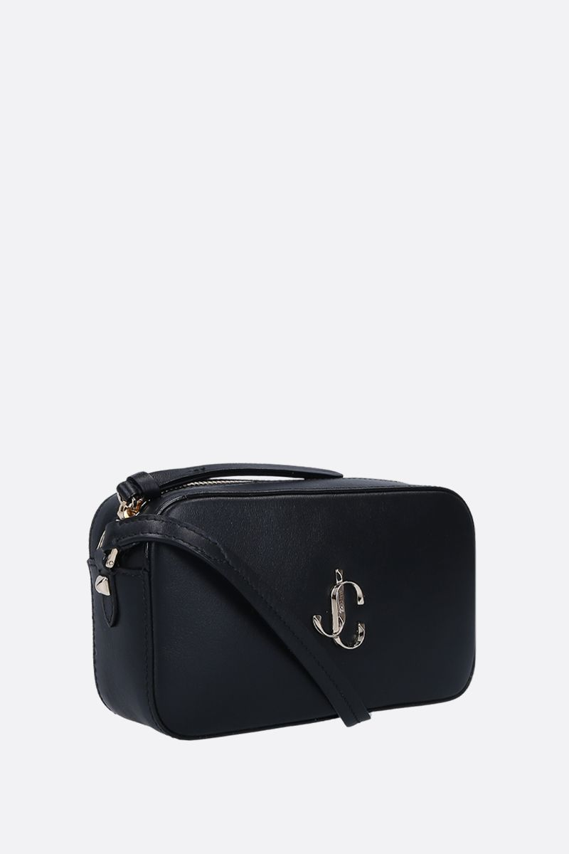 JIMMY CHOO: Hale crossbody bag in smooth leather Color Black_3