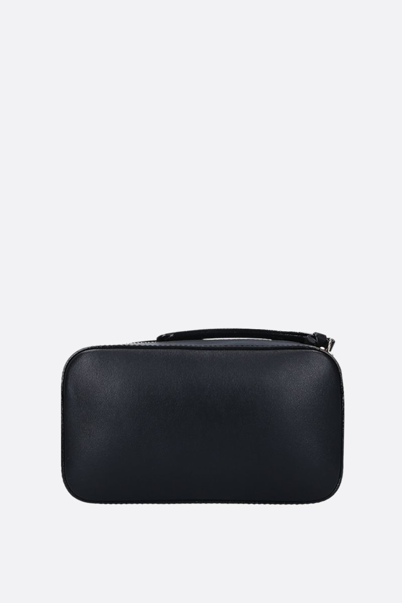JIMMY CHOO: Hale crossbody bag in smooth leather Color Black_4