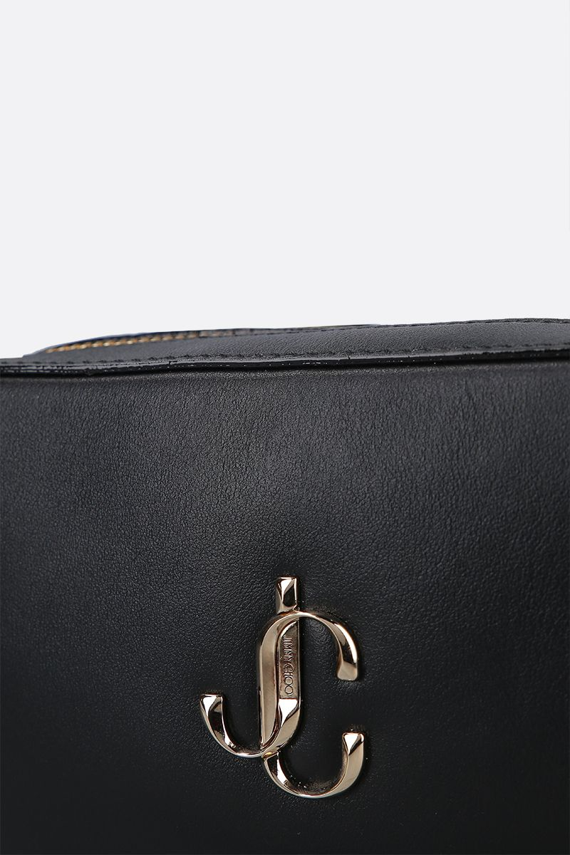 JIMMY CHOO: Hale crossbody bag in smooth leather Color Black_5