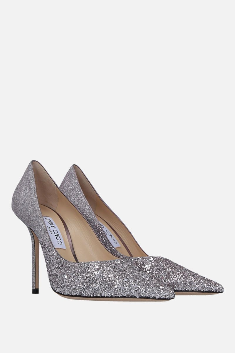 JIMMY CHOO: Love pumps in glitter fabric_2