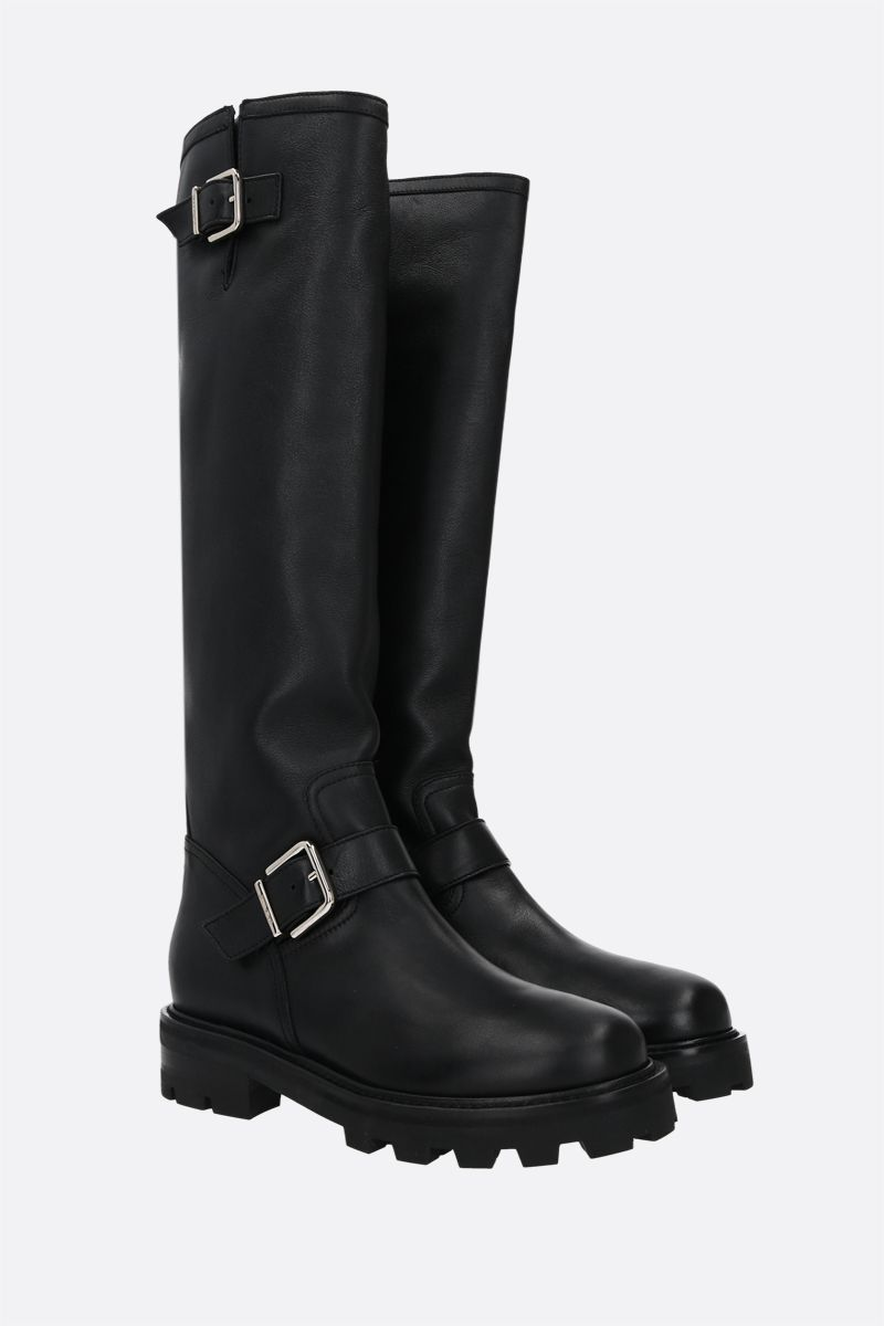 JIMMY CHOO: Biker II smooth leather boots Color Black_2