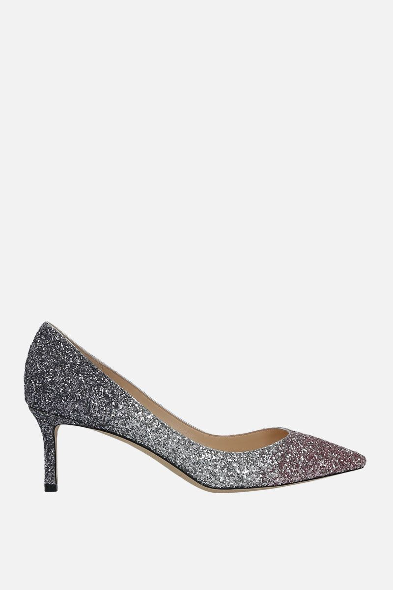 JIMMY CHOO: Romy pumps in glitter fabric Color Multicolor_1