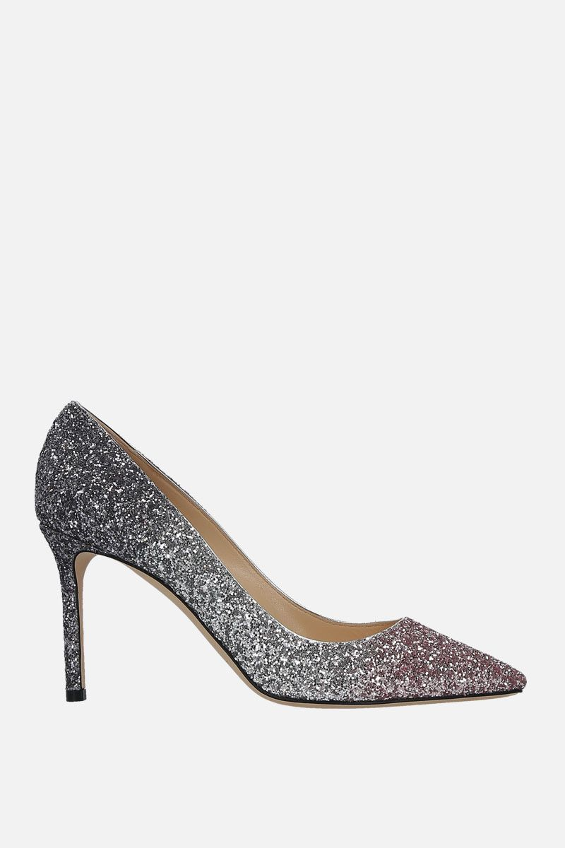 JIMMY CHOO: Romy pumps in degradè glitter fabric Color Multicolor_1
