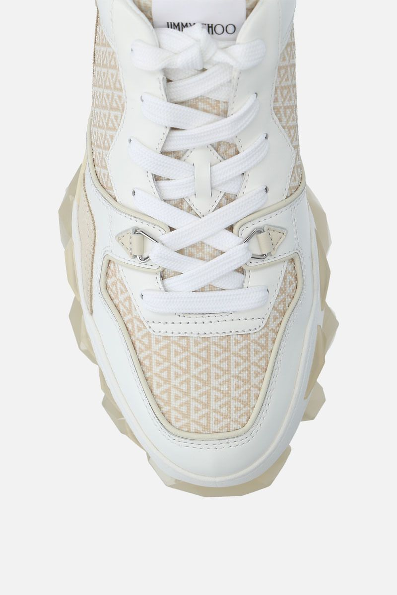 JIMMY CHOO: Diamond X/M sneakers in a mix of materials Color White_5