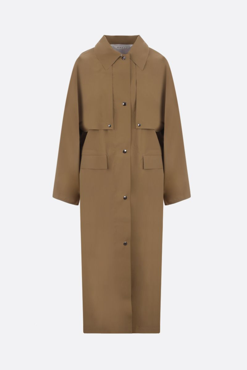 KASSL EDITIONS: coated canvas single-breasted trench coat Color Neutral_1
