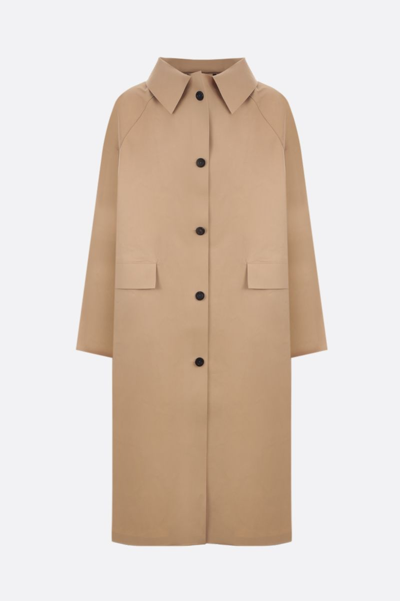 KASSL EDITIONS: cotton blend single-breasted trench coat Color Neutral_1