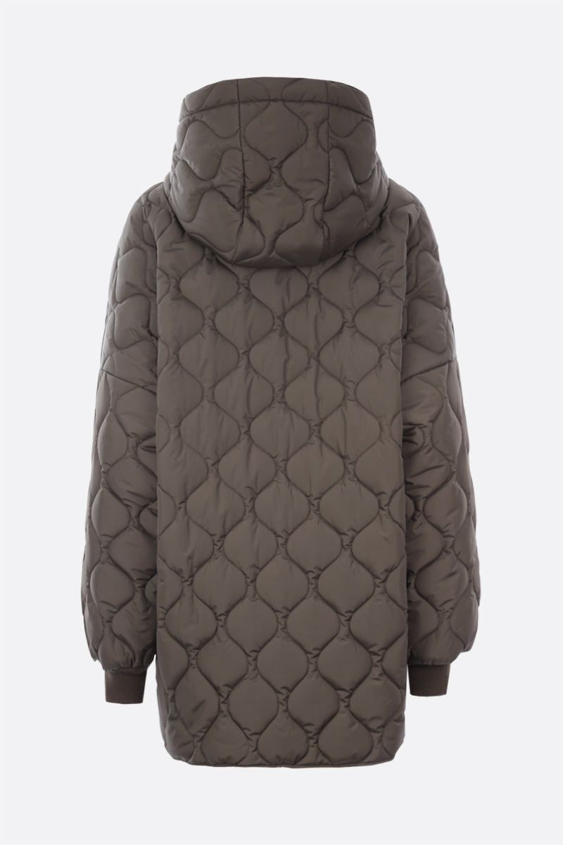 KHRISJOY: oversize quilted nylon jacket Color Green_2