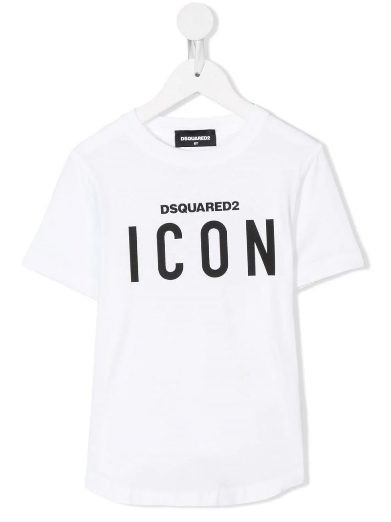 DSQUARED2 KIDS: Icon t-shirt in cotton jersey Color White_1