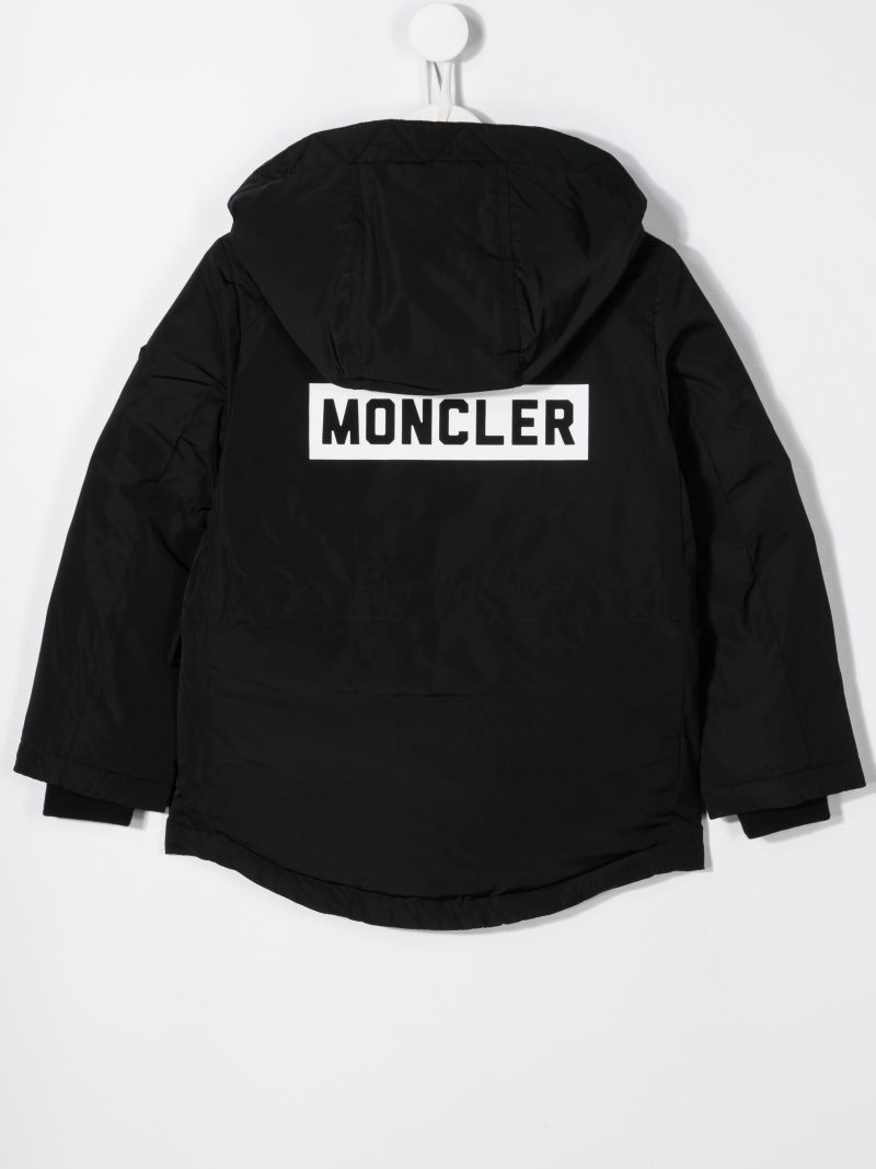 MONCLER KIDS: Salagou down jacket in technical fabric Color Black_2