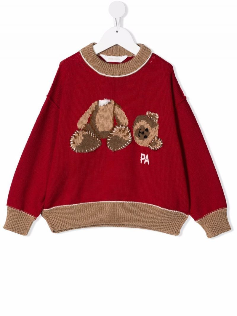 PALM ANGELS KIDS: Bear wool pullover Color Multicolor_1