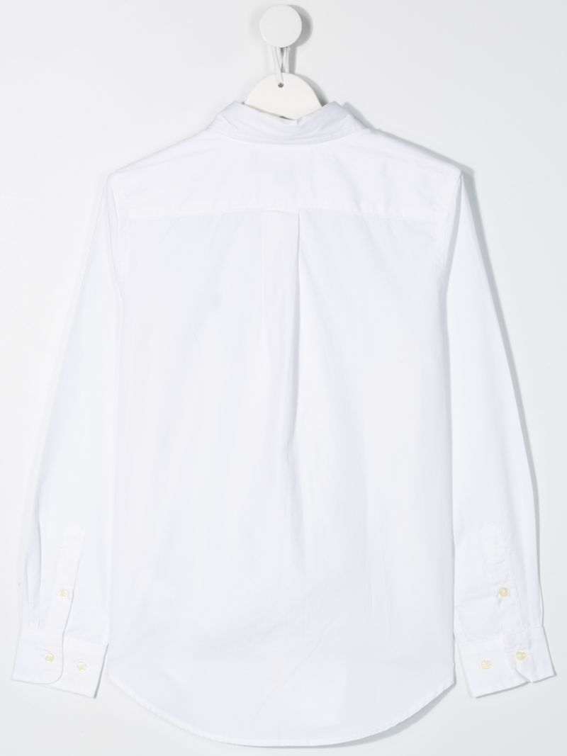 RALPH LAUREN KIDS: Pony embroidered cotton shirt Color White_2