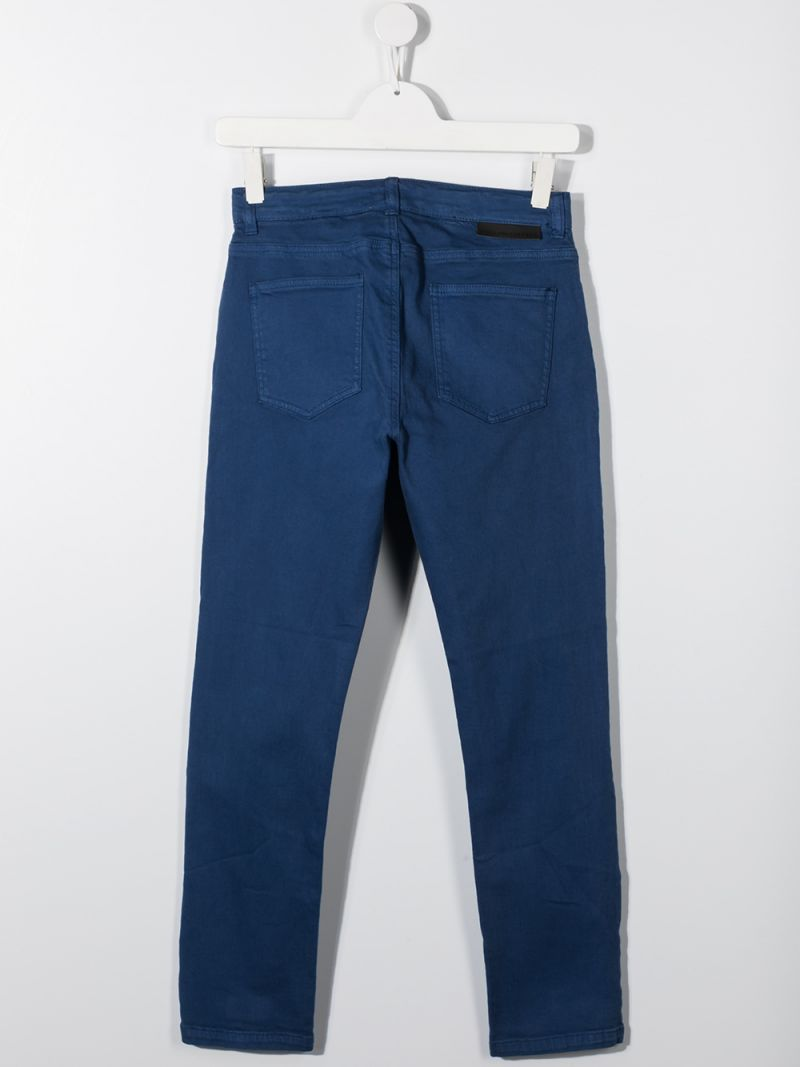 STELLA McCARTNEY KIDS: Earth patch jeans Color Blue_2