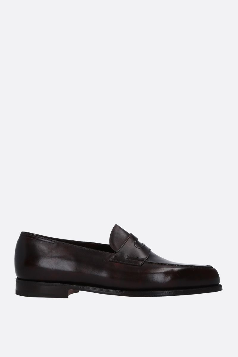 JOHN LOBB: Lopez loafers in Museum leather Color Brown_1
