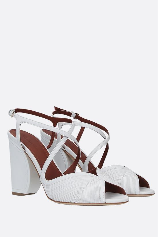 LORO PIANA: Calella quilted nappa sandals Color White_2
