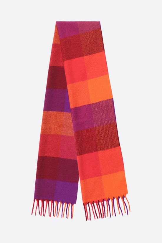 LORO PIANA: check cashmere scarf Color Multicolor_2