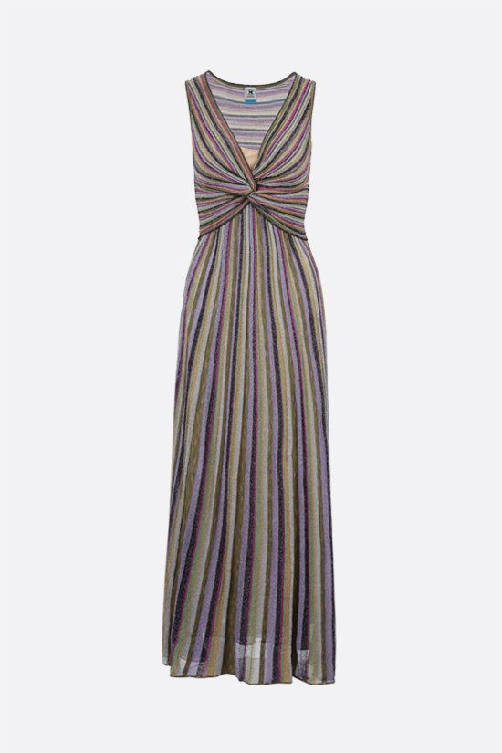 M MISSONI: striped lightweight knit sleeveless dress Color Multicolor_1
