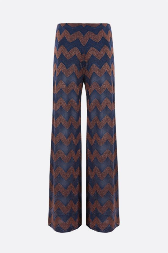 M MISSONI: wide-leg zigzag-motif lightweight pants Color Multicolor_2