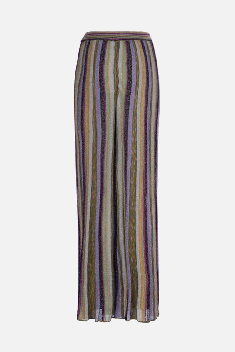 M MISSONI: wide-leg striped lightweight knit pants Color Multicolor_2