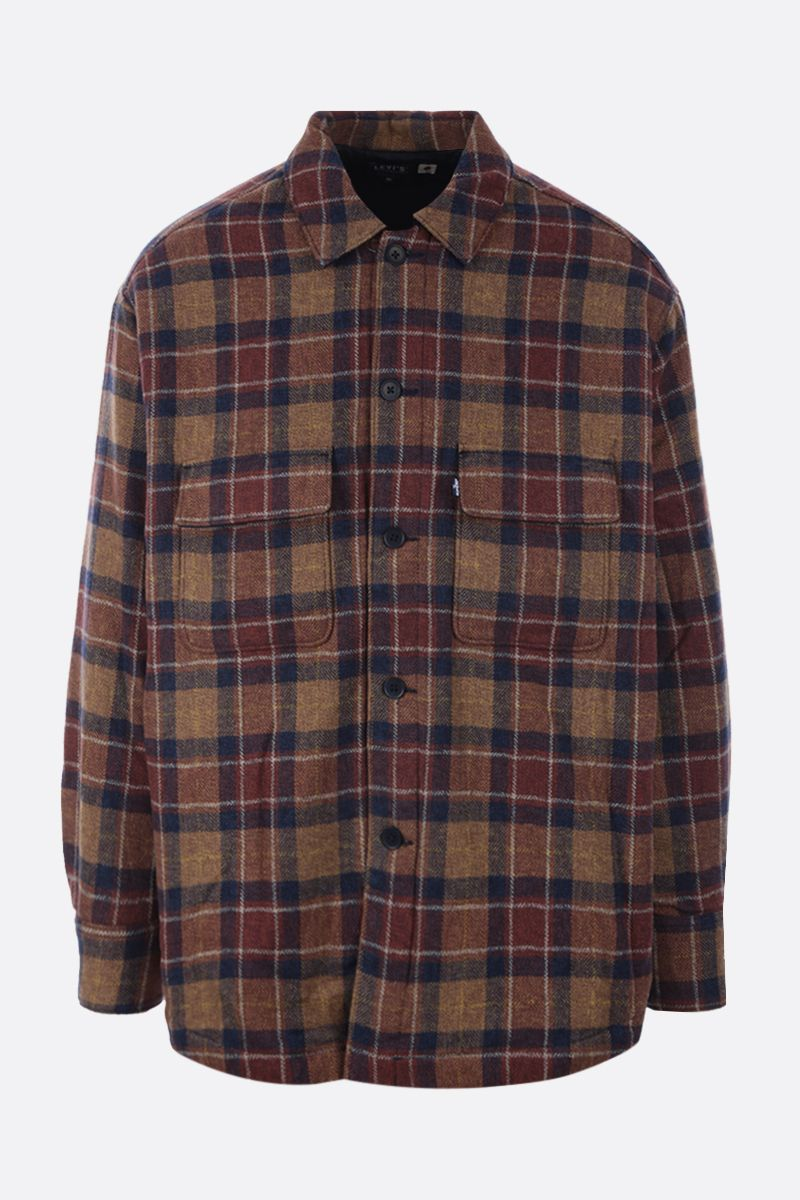 LEVI'S MADE & CRAFTED: check cotton padded overshirt Color Multicolor_1