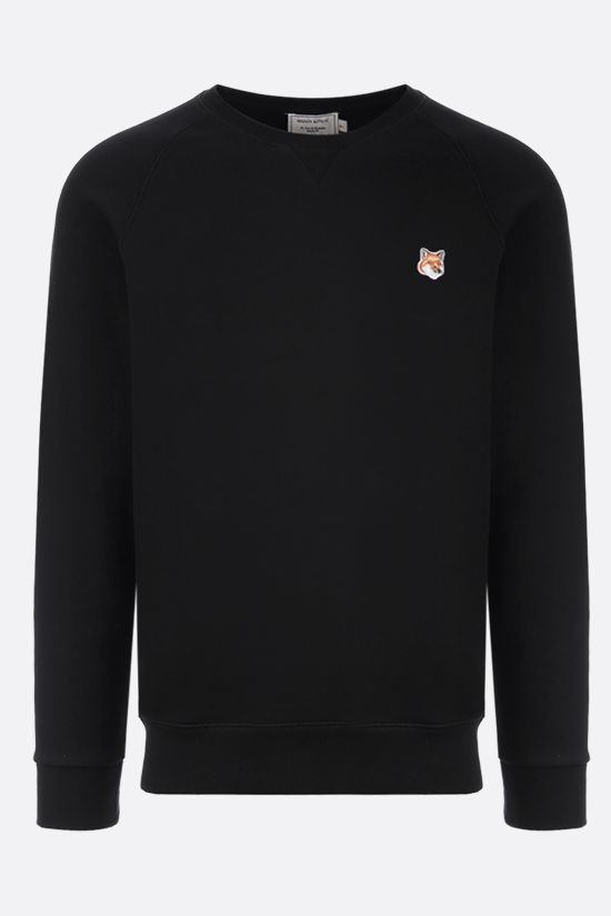 MAISON KITSUNÈ: Fox Head patch cotton sweatshirt Color Black_1