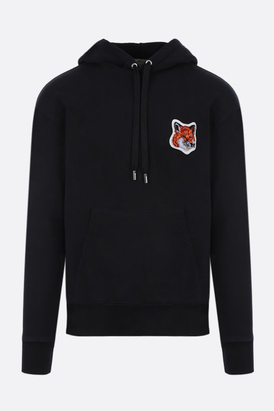 MAISON KITSUNÈ: Fox HEad patch cotton hoodie Color Black_1