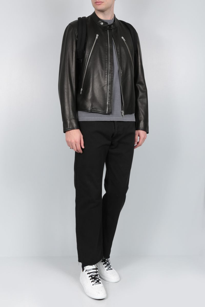 MAISON MARGIELA: soft nappa biker jacket Color Black_2