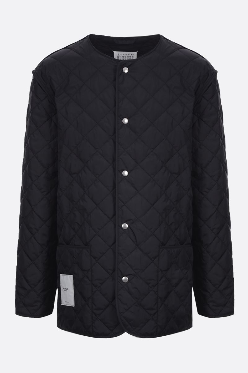 MAISON MARGIELA: nylon quilted jacket Color Black_1