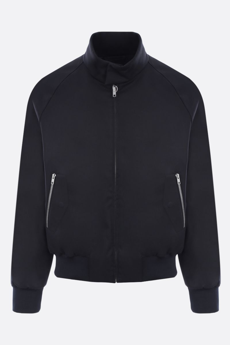MAISON MARGIELA: technical cotton padded jacket Color Blue_1