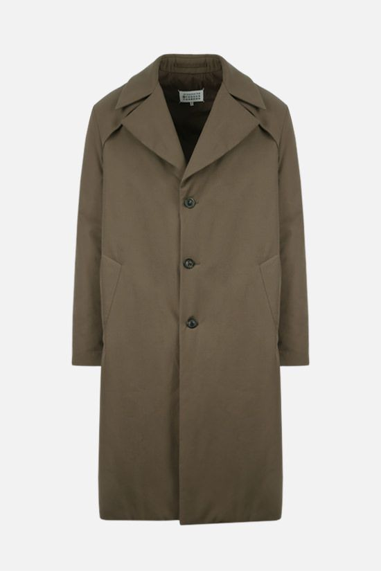 MAISON MARGIELA: oversize cotton padded overcoat Color Green_1
