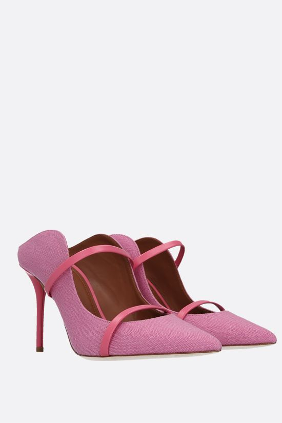 MALONE SOULIERS: Maureen canvas mules Color Pink_2