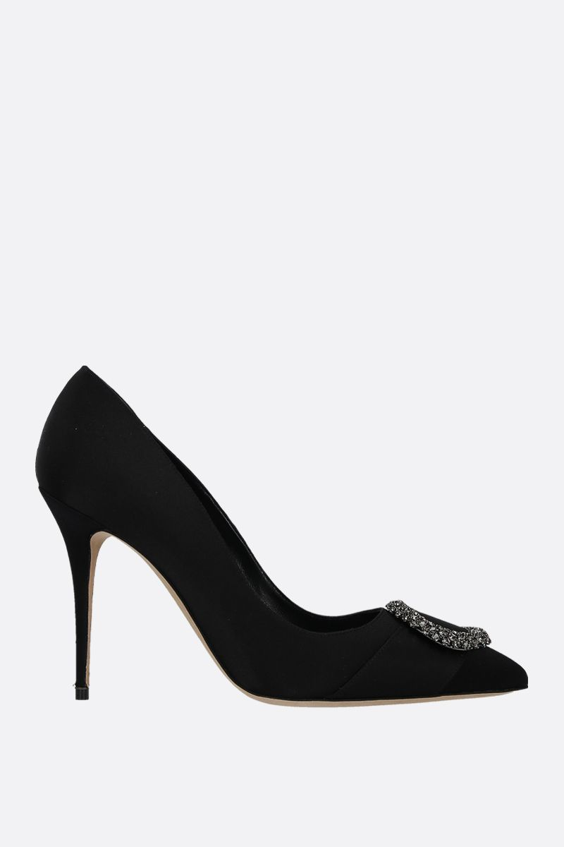 MANOLO BLAHNIK: Fasa satin pumps Color Black_1