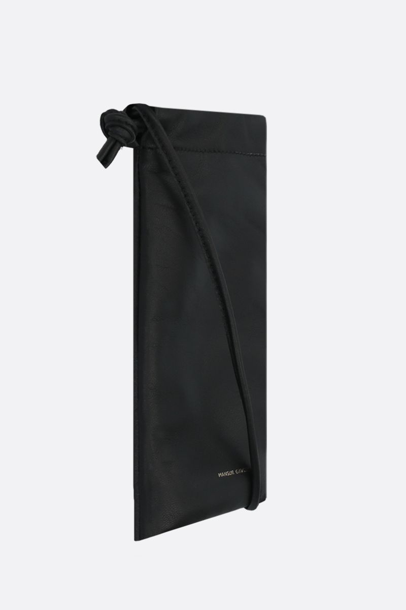 MANSUR GAVRIEL: soft nappa padded smartphone holder Color Black_2